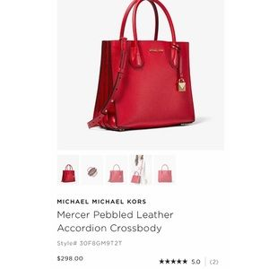 065bb015b6e1fc Michael Kors Bags - red square michael kors crossbody bag